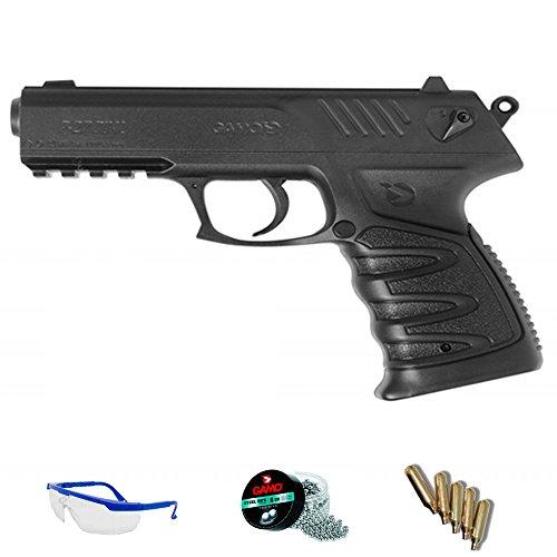 Gamo Pack Pistola P27 Dual de balines de Plomo/Acero y CO2 <3,5julios