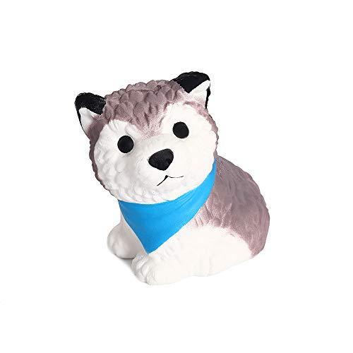 Anboor Squishies Hund Welpe Steigend Quetschen Spielzeug Süß Tiere Slow Rising Antistress Squishies Spielzeug Geschenk für Kinder Erwachsene(11*9*10.5cm,1 Stück)