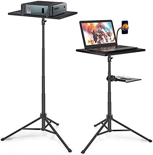 Laptop Projector Tripod Stand, Universal Portable Projector Tripod Stand, Detachable Tripod Mount for DJ Equipment, Stage or Studio, Height Adjustable 19 to 51 Inch