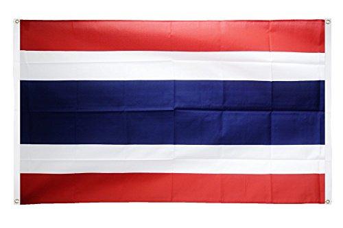 Digni Drapeau de Balcon (avec 4 Oeillets) Thaïlande - 90 x 150 cm Sticker Gratuit
