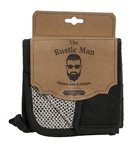 Evriholder The Rustic Man Wash Cloths, Black 3 Count