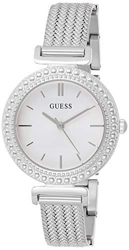 Guess Damen Analog Quarz Uhr mit Stahl Armband W1152L1