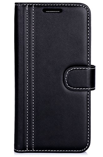 LG G6 Case, ProCase Folio Folding LG G6 Wallet Case with Flip Cover and Stand, Credit Card Slots and Kickstand Protective Case for LG G6 2017 -Black
