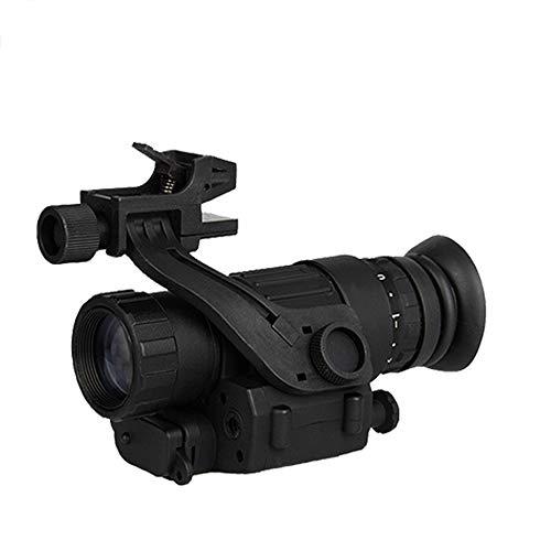 SIRUL 2 X 28 Monokular Nachtsichtbrille, Digitale Nachtsichtbrille IR Nachtsicht Monokular, PVS-14 für Helm, Geeignet für Nachtsichtjagd