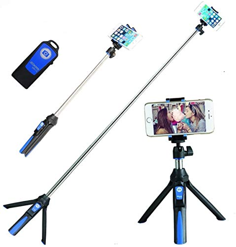 Handheld trípode 3 en 1 Monopie de autorretrato extensible teléfono selfie stick...
