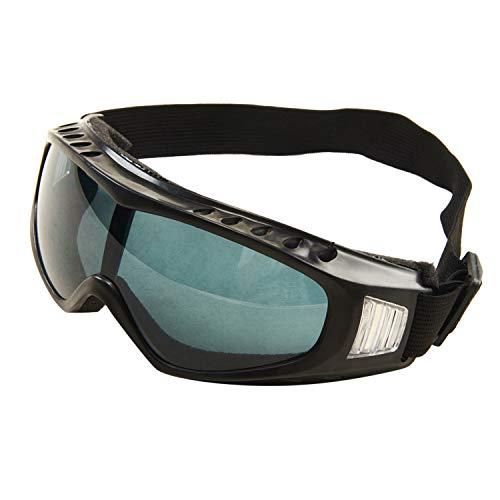 Babimax Outdoor-Schutzbrille, mit UV-Schutz, Anti-Beschlagen, Anti-Staub, dunkles Schwarz