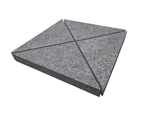 Gardissimo 4 Granitplatten, für Schirmständer, perfekt auch für Ampelschirme, 100 kg Gesamtgewicht