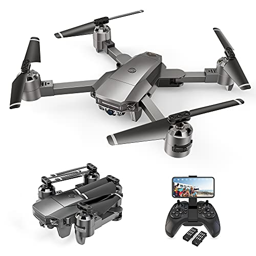 Drone A15F con cámara gran angular 1080P FHD de 120 °, posicionamiento de flujo óptico, función Sígueme, vuelo por trayectoria, control de voz y gestos, duración de la batería de 24 minutos