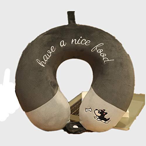 MSNLY Cartoon Color Matching Memory Foam Cuscino a Forma di U Cuscino per Collo Auto Carino Peluche Cuscino cervicale Cuscino da Viaggio Portatile