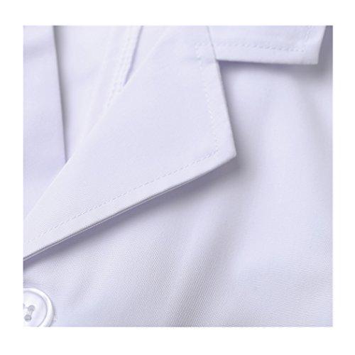 shane&shaina Kurzarm kurze abschnitt kittel ärzte krankenschwestern bekleidung arbeitskleidung arbeit (damen, XL) - 2