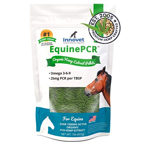 Innovet Pet Products Equine PCR Hemp Pellets for Horses - Natural Equine Hemp Pellets, Relieves Joint Pain & Discomfort | Reduces Stress, Inflammation & Supports Performance - 1 lb Bag – Made in USA