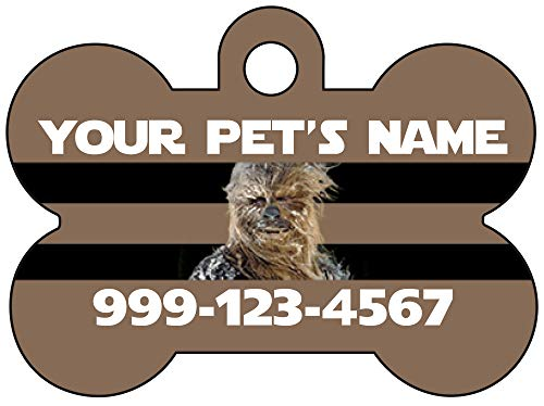uDesignUSA Disney Star Wars Chewbacca Dog Tag Pet Id Tag Personalized w/Your Pet's Name & Number