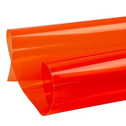 HOHOFILM Auto Koplamp Tint Film Achterlicht Vinyl Wrap Mist Licht Sticker Zelfklevende Auto Folie 30cmx200cm ORANJE