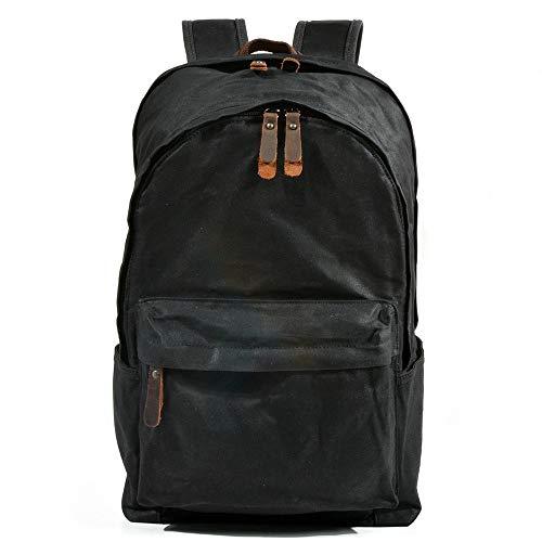 QinWenYan Mens Backpack Mens Womens Retro Casual Daypacks Backpack Canvas Hiking Travel School Rucksack Laptop Water Resistant Vintage Bookbag For Unisex for Work, School, Travel