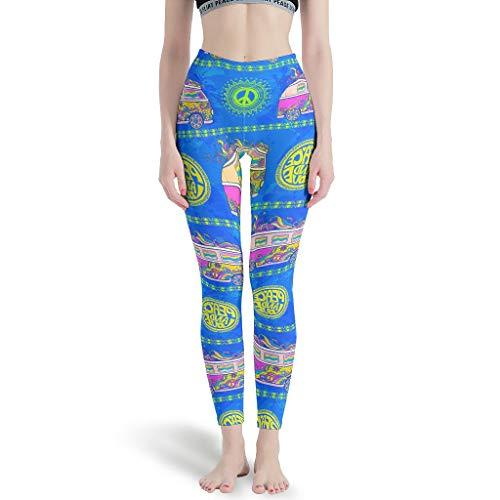 O5KFD & 8 Dames Patroon dunne leggings Hot High Waist Out Stretch broek Workout Leggings Dames kort -