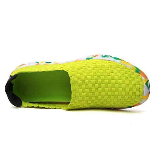Mujeres Zapatillas Planas Verano Color sólido Transpirable Tejidos elásticos Slip en Inferior Suave Inferior bajo más tamaño 42 señoras Zapatos Casuales