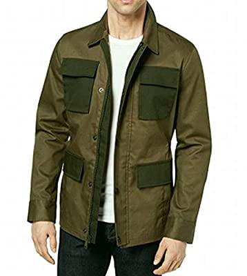 Tommy Hilfiger Mens Shorewood Lightweight Utility Field Coat Green L from Tommy Hilfiger