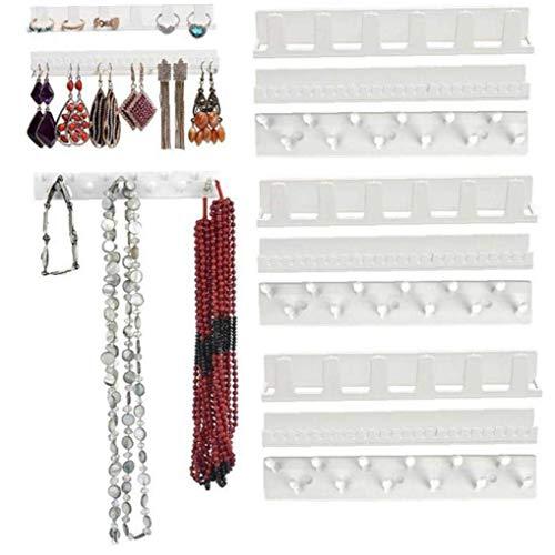 DINEGG Adhesive Jewellery Hook Rack Hanger Earring Necklace Organizer Holder Display Stick QQQNE