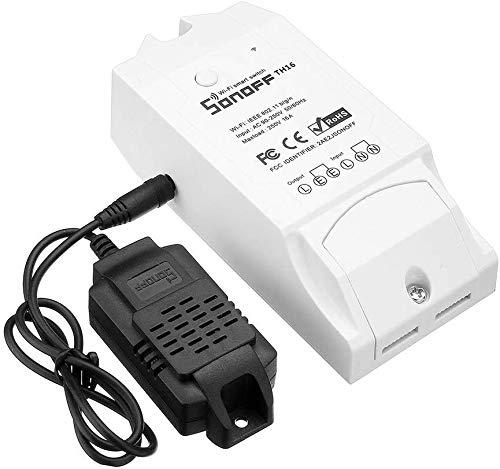 Sonoff TH16+Si7021- Interruptor Inteligente WiFi para Control de Temperatura y Humedad del hogar