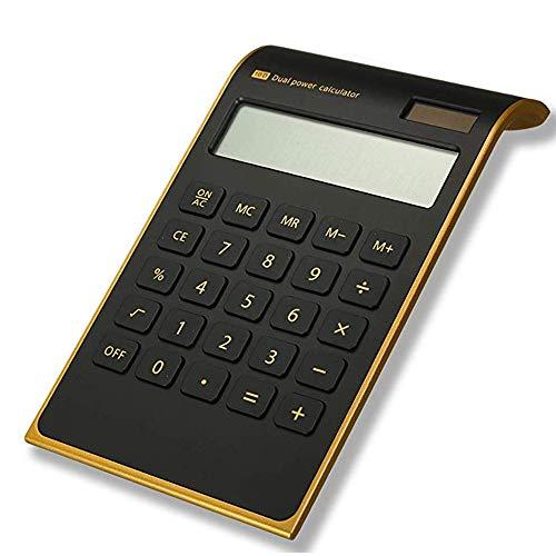 WEIZEU Power-Taschenrechner für Home Office Desktop Taschenrechner Neigtes LCD-Display Business Schule Büro 10-stellig Tischrechner Werkzeug, Schwarz