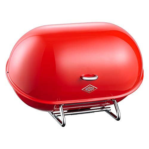 WESCO Single Breadboy – Steel Bread Box for Kitchen/Storage Container, Red