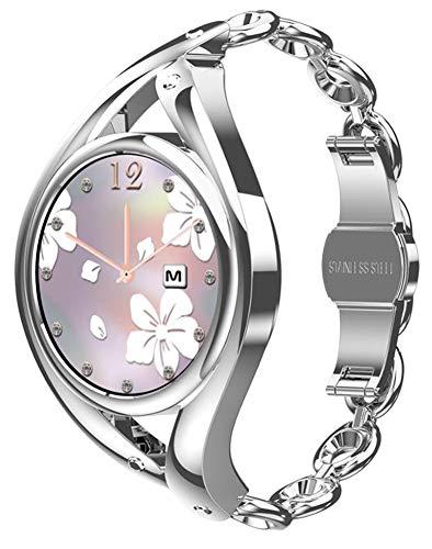 XWZ Smart Watch Women Lovely Bracelet Ultradünne Smartwatch Smart Bracelet Health Activity Tracker Armbanduhr Für Frauen Fitness Tracker Uhr,Silber
