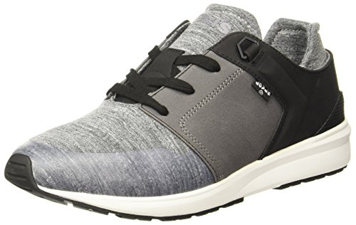 Levi's Women's Black Tab Runner Regular Grey Boating Shoes -(38376-0002_Regular Grey_5.5)