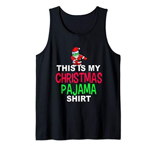 Santa Floss Dance Pajama Shirt | Dancing Santa PJ Tank Top