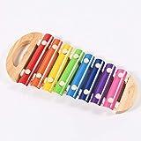 SunshineTec Xylophon aus Holz, Glockenspiel für Kinder, Musikspielzeug, Xylofon, Klangspiel