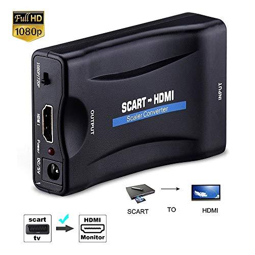 1080P Scart zu HDMI Video Konverter Stereo Audio Adapter für HDTV STB VHS Xbox PS3 Sky DVD CRT