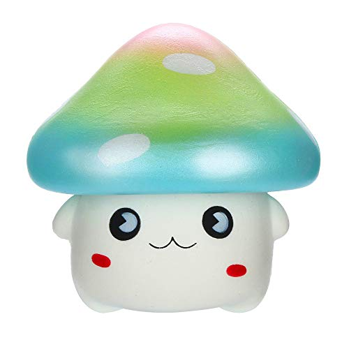 Fasclot Kawaii Cartoon Mushroom Squishies Slow Rising Fruit Scented Stress Reliever Toys