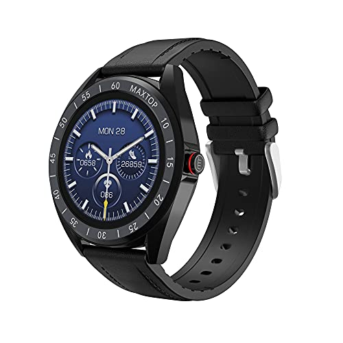 Smart Watch, MAXTOP Fitness Watch for Android/iOS Phones with Accurate Heart Rate, Music Control, Blood Pressure, Pedometer, Sleep Monitor, Waterproof, 1.4' Touch Screen Smart Watches for Men T1 Pro