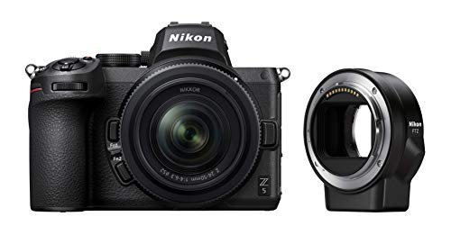 Nikon Z5 + Z 24-50 + FTZ + Lexar SD 64 GB 667x Pro Fotocamera Mirrorless, CMOS FX 24.3 MP, Full Frame, Mirino Quad-VGA EVF, LCD 3.2  Touch, Wi-Fi, Bluetooth, 4K, Nero, [Nital Card: 4 Anni di Garanzia]
