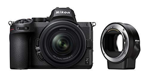 Nikon Z5 + Z 24-50 + FTZ + Lexar SD 64 GB 667x Pro Fotocamera Mirrorless, CMOS FX 24.3 MP, Full Frame, Mirino Quad-VGA...