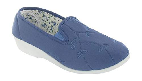 Mirak Bessie - Chaussures en Toile - Femme (41 EUR) (Bleu)
