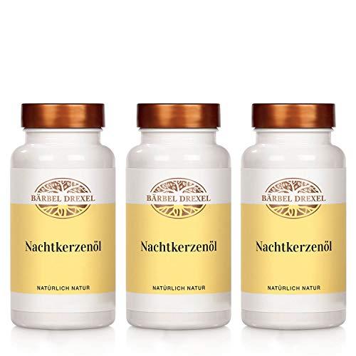 BÄRBEL DREXEL® Nachtkerzenöl Kapseln Vegan 500mg/Softgel (3x 120 Stk) 100{dc1c419684f33035ffa5a09a85551fa63199b01d8d13c312532eebddfbb43fa8} Vegane Herstellung Deutschland Trockene Haut Gamma-Linolensäure GLA Nachtkerze Hochdosiert Evening Primrose Oil Vitamin E