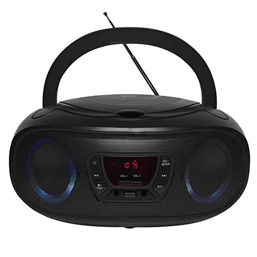 Denver CD-Player mit Discolicht Radio USB Bluetooth MP3 AUX TCL-212BT Black