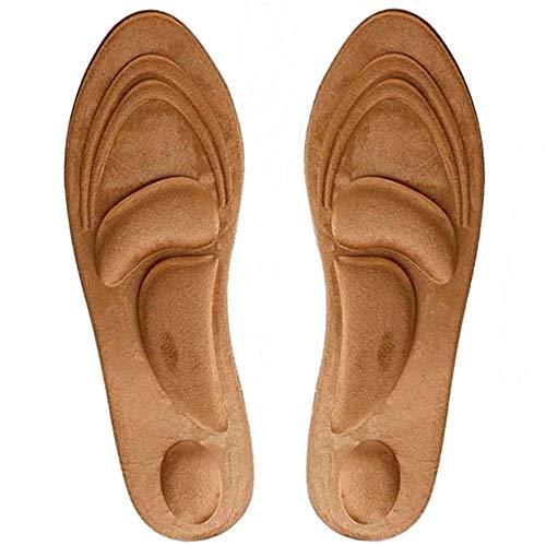 Tacohan Winter Warme Einlegesohlen Memory Plüsch Sohlen Massage Schuheinlagen Einlagen für Damen und Herren, Mit Bogenunterstützung, Keine kalten Füße Mehr (35-40)
