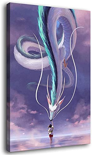ZKDT Canvas Poster Spirited Away Touch The White House Anime Poster Art 3D Online Print Wall Living Room Decoration (Unframed, 24 x 36 inch?60 x 90 cm?)