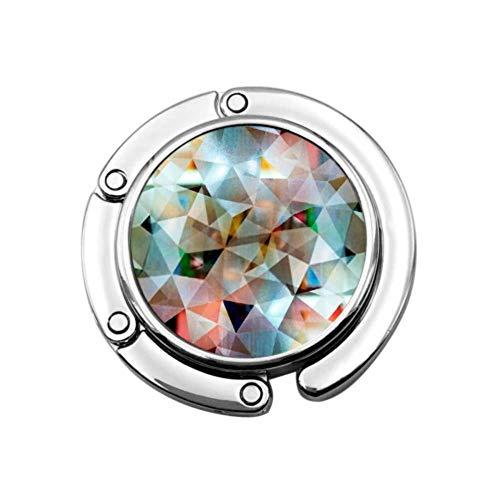 Gancho para Monedero Plegable Mosaico Abstracto Patrón de Noche Estilo Bolso Plegable...