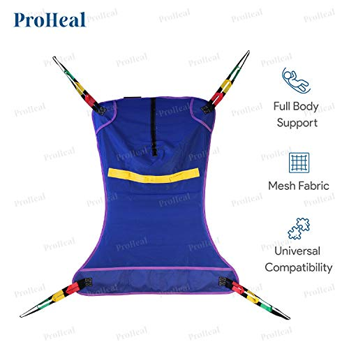 ProHeal Universal Full Body Mesh Lift Sling, XX Large, 54'L x 43' - Polyester Slings for Patient Lifts - Compatible with Hoyer, Invacare, McKesson, Drive, Lumex, Medline, Joerns and More