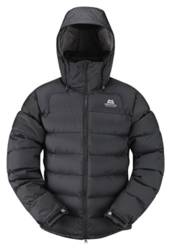 Mountain Equipment Men's Lightline Windproof Insulated Zip-Off Hood Down Jacket, Black, Large