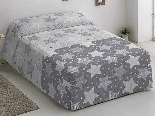 Camatex - Conforter Stars Cama 90 - Color Gris