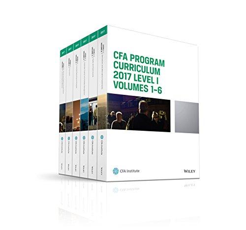 CFA Program Curriculum 2017 Level I, Volumes 1 - 6 (CFA Curriculum 2017)
