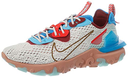 Nike React Vision, Scarpe da Corsa Uomo, Multicolore (Light Bone/Photo Blue/Team Red), 43 EU