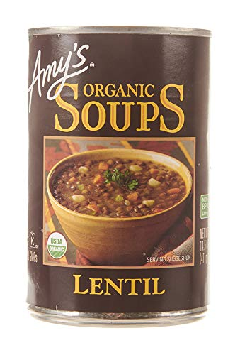 Amy's Organic Lentil Soup, Non GMO, USDA Organic, Vegan, 14.5 oz