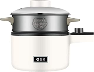 Dormitorio de Estudiantes cocinar Fideos pequeña Olla eléctrica Caliente Pot @ Home Polvo yqaae (Color : White)