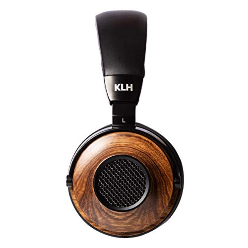 KLH Ultimate One Open-Back Over Ear Headphones   Premium Studio Music   High-Fidelity Beryllium Driver   Deep Bass   Hi-Res Audiophile Premium Quality   Real Zebrawood Ear Cups