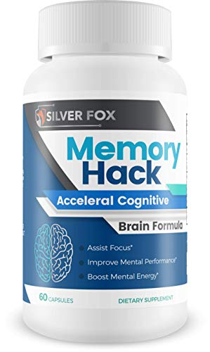 Memory Hack - Acceleral Cognitive Brain Formula - Support Mental Endurance and Focus - with Taurine & Other Powerful Natural Ingredients - Nootropic Brain Booster