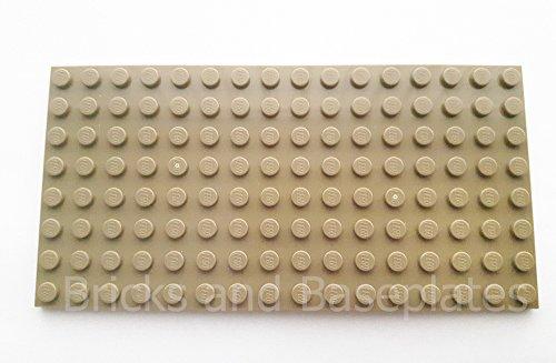 LEGO® Baseplatate ciemne brązowe 8 x 16 pnączy - rzeczywiste wymiary (12,8 cm x 6,4 cm x 0,5 cm) darmowe przesyłka w Wielkiej Brytanii pobierane z zestawów Dostarczane w opakowaniu z cegłami i płyt podłogowych